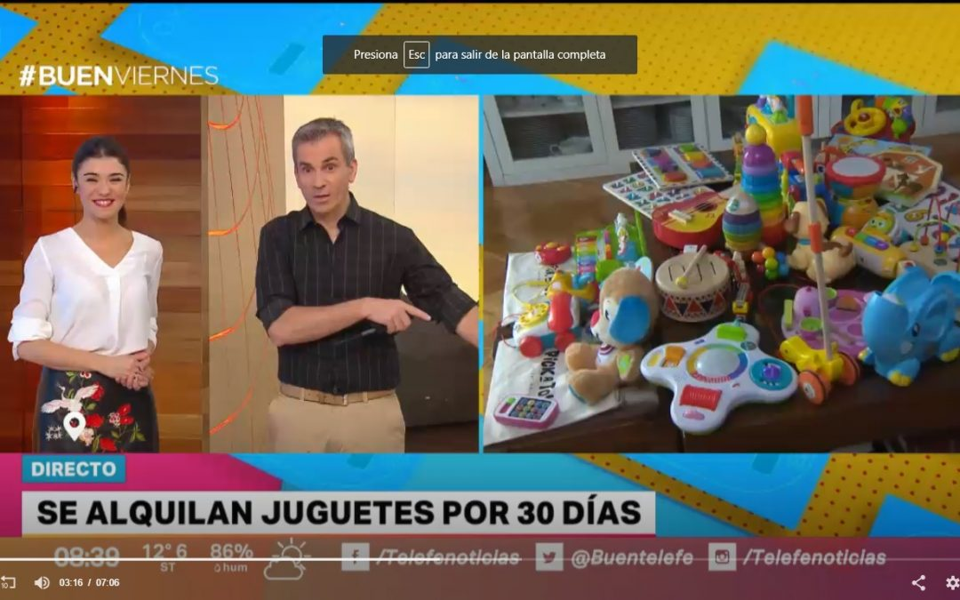 Telefé Noticias – To save and not accumulate, they offer toy rentals for 30 days